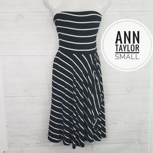 Small Ann Taylor Strapless Stripe Dress